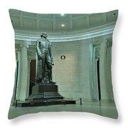 Inside The Jefferson Memorial Throw Pillow
