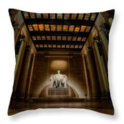 Inside The Lincoln Memorial Throw Pillow