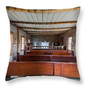 Inside The Little Church - World Mining Museum Throw Pillow