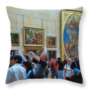 Inside The Louvre 1 Throw Pillow