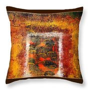 Inside The Manic Mind Throw Pillow