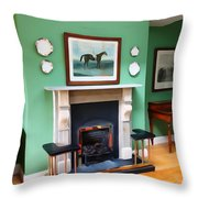 Inside The Manor Throw Pillow