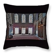 Inside The Mosque Throw Pillow