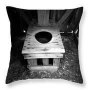 Inside The Outhouse Throw Pillow