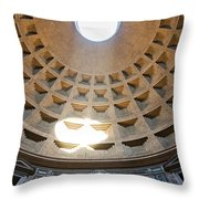 Inside The Pantheon - Rome - Italy Throw Pillow