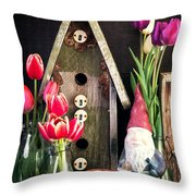 Inside The Potting Shed Throw Pillow