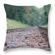 Inside The Rails Throw Pillow