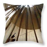 Inside The Tipi Throw Pillow
