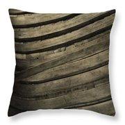 Inside The Wooden Canoe Throw Pillow