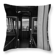 Inside Trolley 28 Black And White Throw Pillow