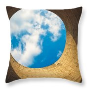 Inside View Of Cooling Tower Throw Pillow