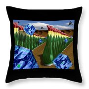 Inspecting The Crops Throw Pillow