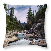 Inspirational Bible Scripture Emerald Flowing River Fine Art Original Photography Throw Pillow