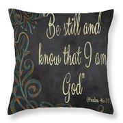 Inspirational Chalkboard-b Throw Pillow