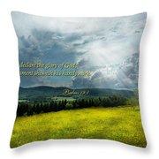 Inspirational - Eternal Hope - Psalms 19-1 Throw Pillow