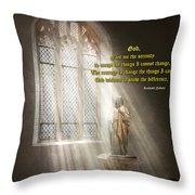Inspirational - Heavenly Father - Senrenity Prayer  Throw Pillow