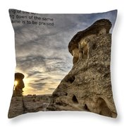 Inspirational Hoodoo Badlands Alberta Canada Throw Pillow