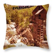Inspirational Mill Throw Pillow