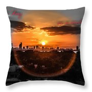 Inspirational--summer Day On A Winters Night Throw Pillow
