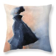Inspired By Balenciaga Fashion Illustration Art Print Throw Pillow by Beverly Brown