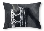 Inspired By Chanel Fashion Illustration Art Print Throw Pillow