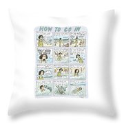 Instructions For Getting Into The Ocean Throw Pillow
