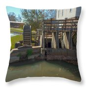 Intake At The Mill Throw Pillow