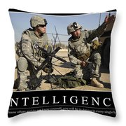 Intelligence Inspirational Quote Throw Pillow