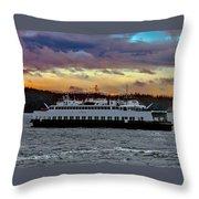 Inter-island Ferry Throw Pillow