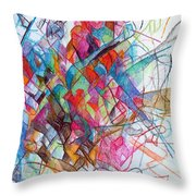 Interchange Between Ambition And Restraint 2 Throw Pillow by David Baruch Wolk