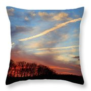 Interesting Sunset Throw Pillow