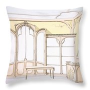 Interior Design For A Fashion Shop Throw Pillow