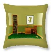 Interior Design Idea - Little Lizard - Animal Art Throw Pillow
