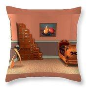 Interior Design Idea - Two Pears Throw Pillow by Anastasiya Malakhova