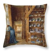 Interior Of A Panelled House Throw Pillow