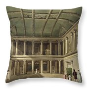Interior Of Concert Room, From Bath Throw Pillow