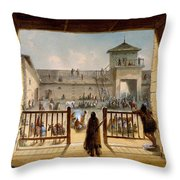 Interior Of Fort Laramie Throw Pillow