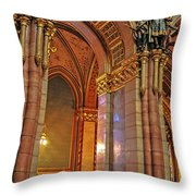Interior Of Hungarian Parliament Throw Pillow