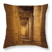 Interior Of Mortuary Temple Of Seti I Throw Pillow