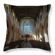 Interior Of St Mary's Church In Rye Throw Pillow