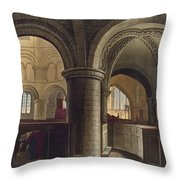 Interior Of The Church Of The Holy Throw Pillow