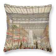 Interior Of The Crystal Palace, Pub Throw Pillow