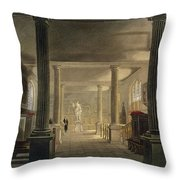 Interior Of The Law School, Cambridge Throw Pillow