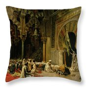 Interior Of The Mosque At Cordoba Throw Pillow by Edwin Lord Weeks