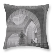Interior Of The Mosque Of Kaid-bey Throw Pillow