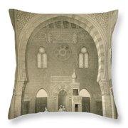 Interior Of The Mosque Of Qaitbay, Cairo Throw Pillow
