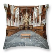 Interior Of The Oude Kerk In Amsterdam Throw Pillow