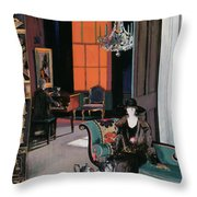 Interior - The Orange Blind, C.1928 Throw Pillow