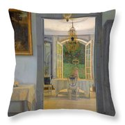 Interior With Afternoon Sun Throw Pillow