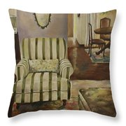 Interior With Chair Throw Pillow